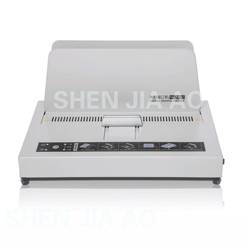 3882 الحرارية ماكينة تجليد الكهربائية الموثق الساخنه نذوب ماكينة تجليد آلة توزيع الغراء 220 V 3 دقائق الاحماء 40 مللي متر