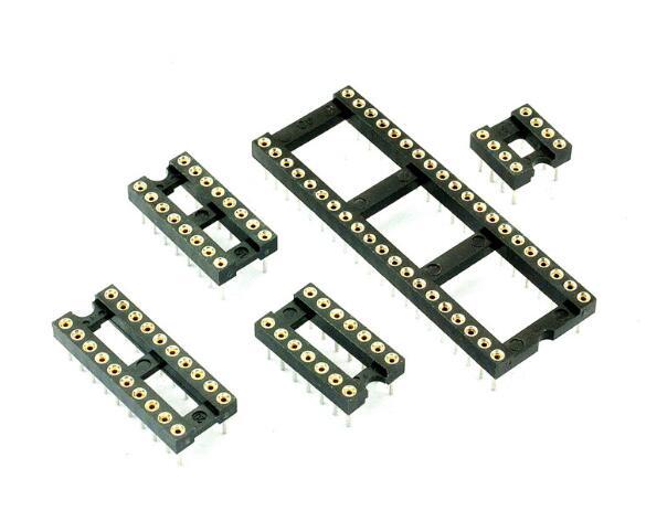 10 PCS 8 Pinos DIP DIP-8 IC Socket Test Soquete DIP24 Buraco Redondo DIP8 DIP14 DIP16 DIP18 DIP20 DIP28 DIP32 DIP40