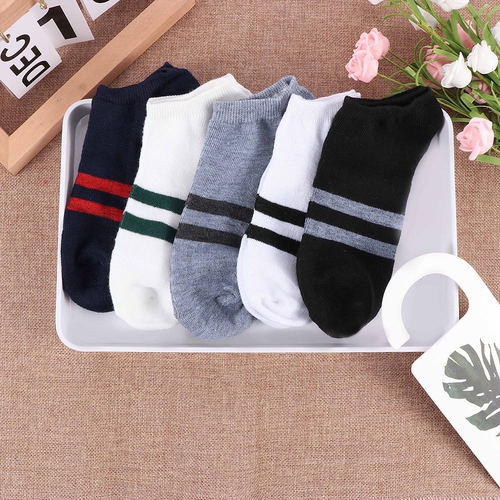 Los hombres delgada antideslizante-calcetines de verano de Color sólido transpirable absorber el...
