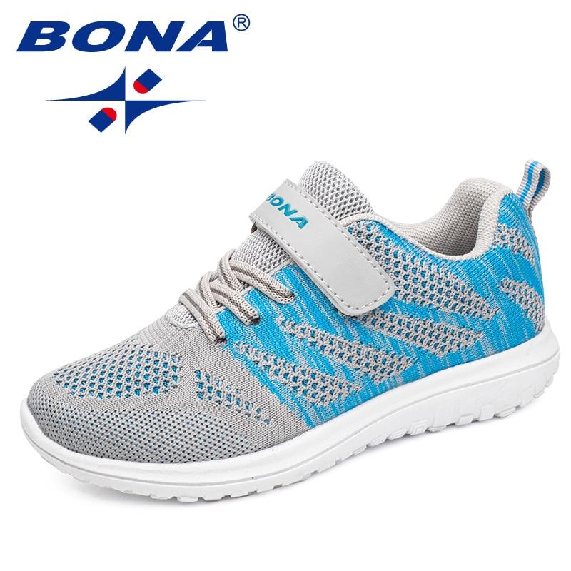 بونا جديد وصول شعبية نمط الأطفال حذاء كاجوال شبكة أحذية رياضية الفتيان والفتيات شقة الطفل احذية الجري خفيفة سريع الحرة Shippin