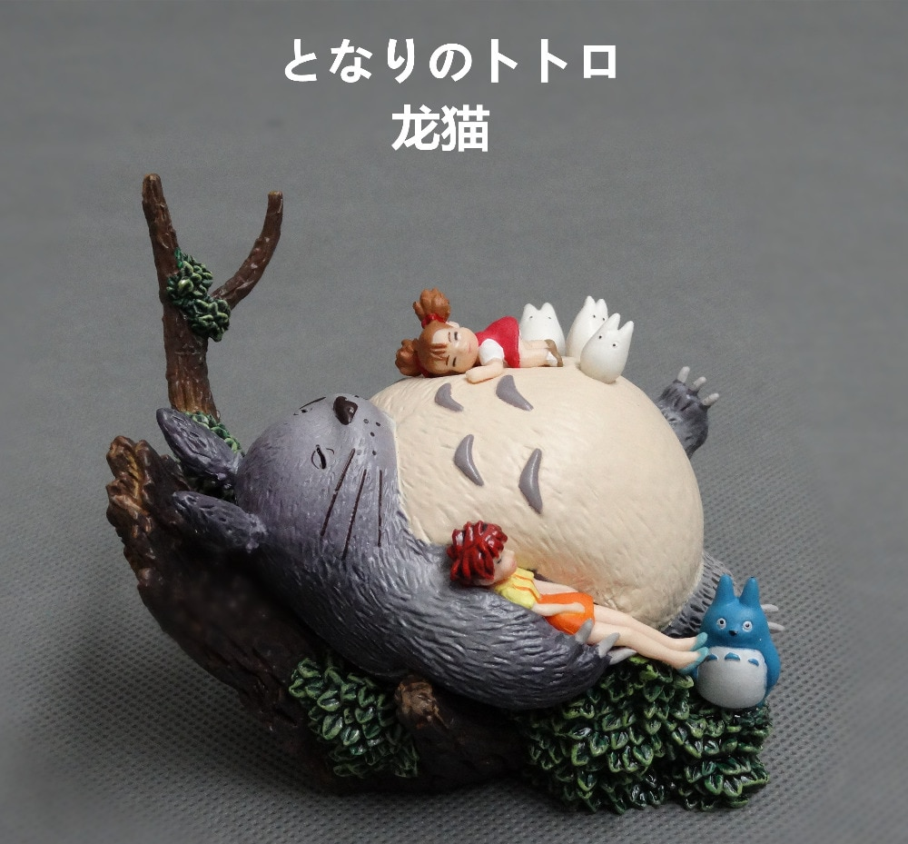 11cm anime japonês figura hayao miyazaki totoro pvc figura de ação brinquedo coleção crianças brinquedos