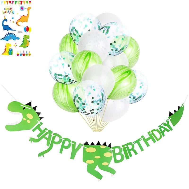 Cartel de feliz cumpleaños infantil con diseño de dinosaurio, suministros para fiesta de niño, regalo de cumpleaños para decoración de tatuajes de dinosaurio