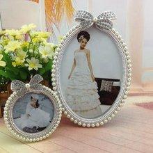 Crystal Pearl Diamond Foto Fotolijst Strik Ovale Leuke Fotolijst Wedding Home Decor Gift Nieuwe 3 inch 6 inch KYY1056