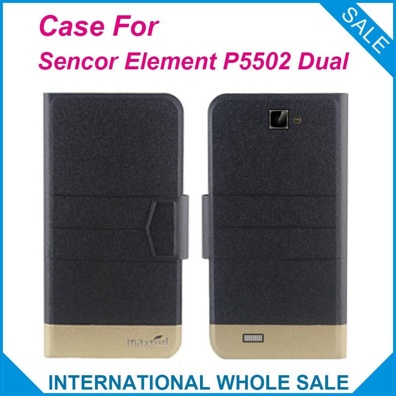 5 Colors Hot! Element P5502 Dual Case High quality Top quality new style flip leather case For Sencor Element P5502 Dual