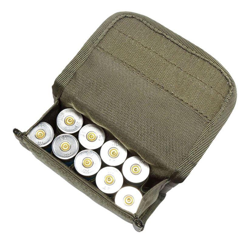 Caza táctica 10 redondo soporte para escopeta Molle revista bolsa municiones cartucho redondo titular bolsa al aire libre suministros más nuevos
