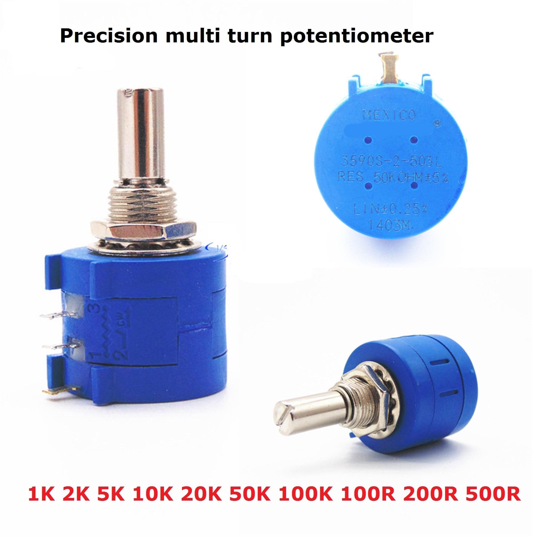 1PC de precisión de la potenciómetro 3590S-2-103 101, 503, 104, 201, 501, 102, 202, 502, 203 100R 200R 500R 1K 2K 5K 10K 20K 50K 100K