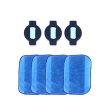 Mèche à eau et 4 pièces Pro-Clean chiffons de nettoyage pour Irobot Braava 380 380T 5200 Mint5200C 4200A 4205 Braava 380 nettoyage des sols