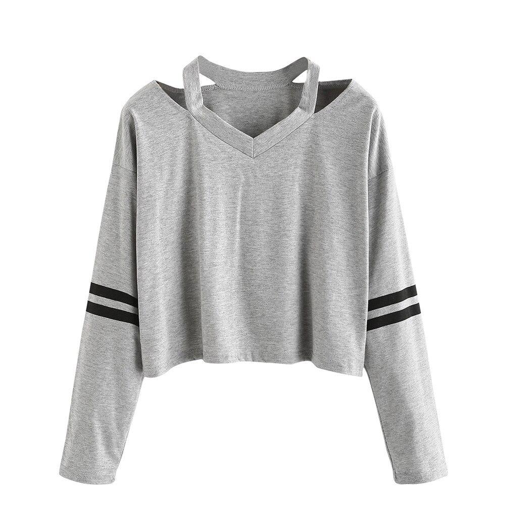 Moda Popular Ostrich gratis, ropa para mujer, sudadera de manga larga, cuello en V, Tops casuales, blusa bonita de unicornio Harajuku