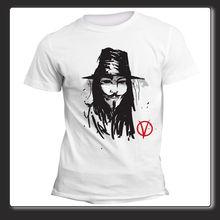 Nueva camiseta de manga corta para hombre de verano 2019, camiseta guay Uomo Donna V Per vendetta Anonymous, camiseta de arte