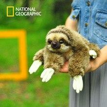 National Geographic 33CM Kawaii Lying Three-toed Sloth Plush Toys Soft Simulation Animal Toys Sloths Plush Dolls Christmas Gifts