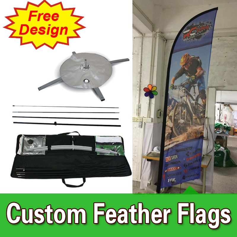 Diseño gratis, Envío Gratis, banderines de pluma con Base cruzada de doble cara, carteles de bandera, publicidad, Bandera de pluma, banderas de publicidad