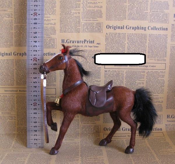 De simulación nueva juguete modelo de caballo de silla Caballo marrón juguete regalo de la decoración de 23x7x23cm
