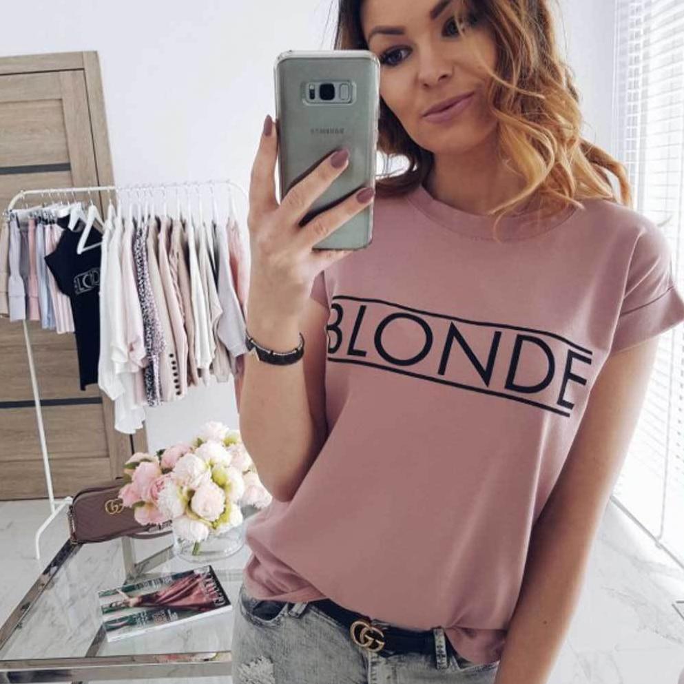 arrival Vogue Womens Short Sleeve Basic Tee Shirt Summer Casual Tops feminina Hipster tumblr harajuku brand Blouse dames kleding