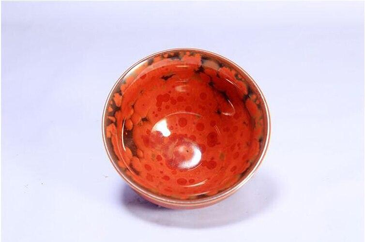 Jianzhan-أكواب الشاي الساخنة اللامعة ، زجاج Tenmoku الأحمر ، للشاي البريطاني ، وعاء من البورسلين