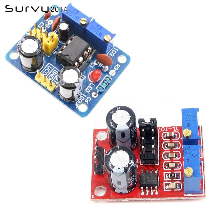 NE555 Pulse Frequency Duty Cycle Square Wave Rectangular Wave Signal Generator Adjustable 555 Board NE555P Module