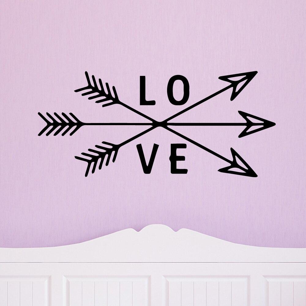Amor moderno vinilo pared pegatina decoración del hogar Stikers niños habitación naturaleza decoración pared arte MURAL Envío Directo