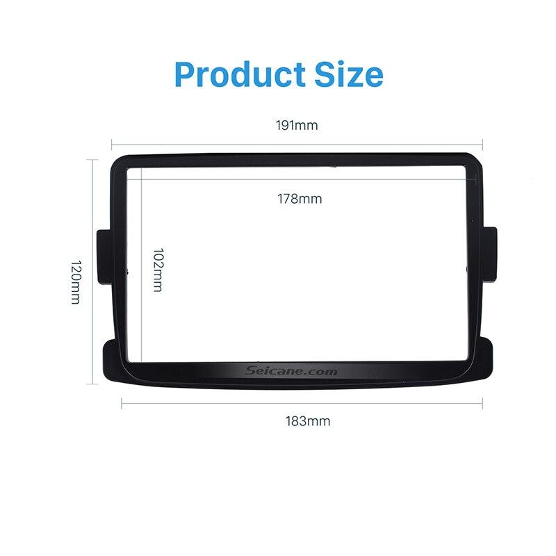 Seicane doble Din car radio Fascia Trim Kit reproductor de DVD para 2012-2014 protector antipolvo para Renault sandero Logan estéreo para coche Panel de interfaz
