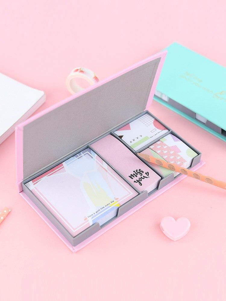 Papelaria kawaii post it notas de papel portátil lágrima memorando nota almofada pequeno livro bonito bloco pegajoso notas