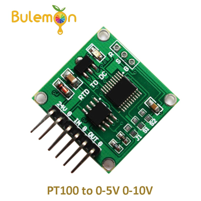 La resistencia térmica de tensión PT100 a 0-5 V 0-10 V lineal de conversión PT100 transmisor de temperatura para