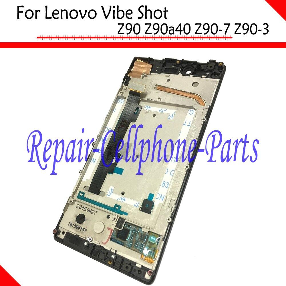 Completa LCD pantalla + pantalla táctil digitalizador + marco cubierta para Lenovo Vibe Shot Z90 Z90a40 Z90-7 Z90-3 de seguimiento número