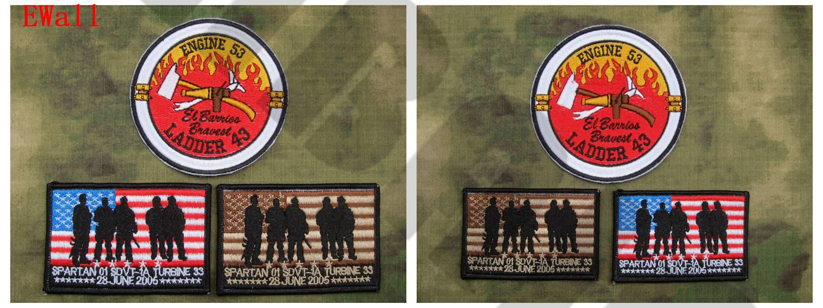Parche bordado traje sello equipo operación alas Rojas único superviviente marca