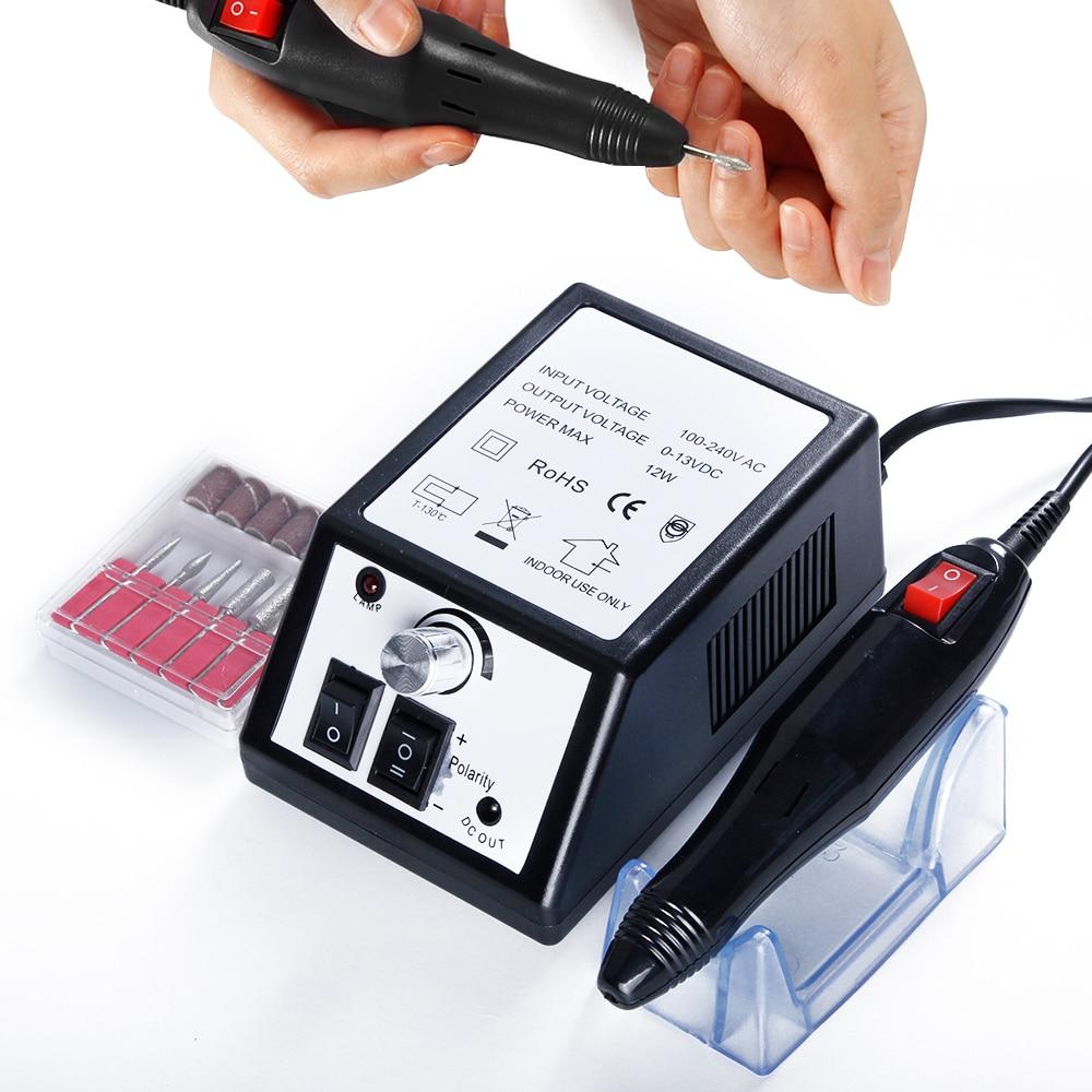Appareil électrique de perceuse à ongles pour manucure Gel dissolvant de cuticules fraisage forets ensemble 20000 tr/min pédicure Machine de coupe Kit ongles