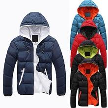 Mannen Slim Casual Warm Jacket Hooded Winter Dikke Rits Jas Hoodie Overjas