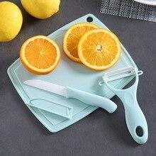 Cuchillos de cocina cuchillos de cerámica multifunción tablas de cortar peladores fácil de almacenar y limpiar al aire libre Camping Picnic juegos de cocina
