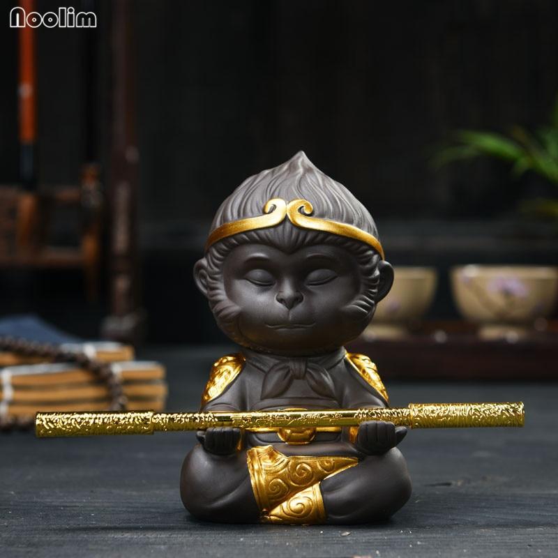 NOOLIM Китайский фиолетовый глина чайный набор кунг-фу Обезьяна Король чай домашнее украшение для чайного подноса