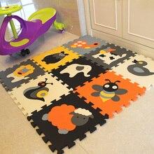 Mei qi cool 9 pièces motif animal mousse Puzzle enfants tapis tapis Joint fendu EVA bébé tapis de jeu intérieur doux activité Puzzle tapis salle de sport