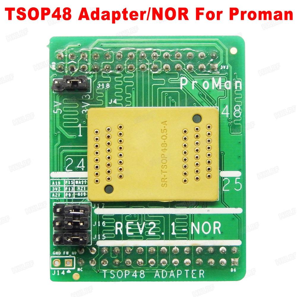 Free shipping SR-TSOP48-0.5-A REV2.1-NOR 3.3V-5V Conversion Base Socket Adapter For ProMan TL86-PLUS Programmer
