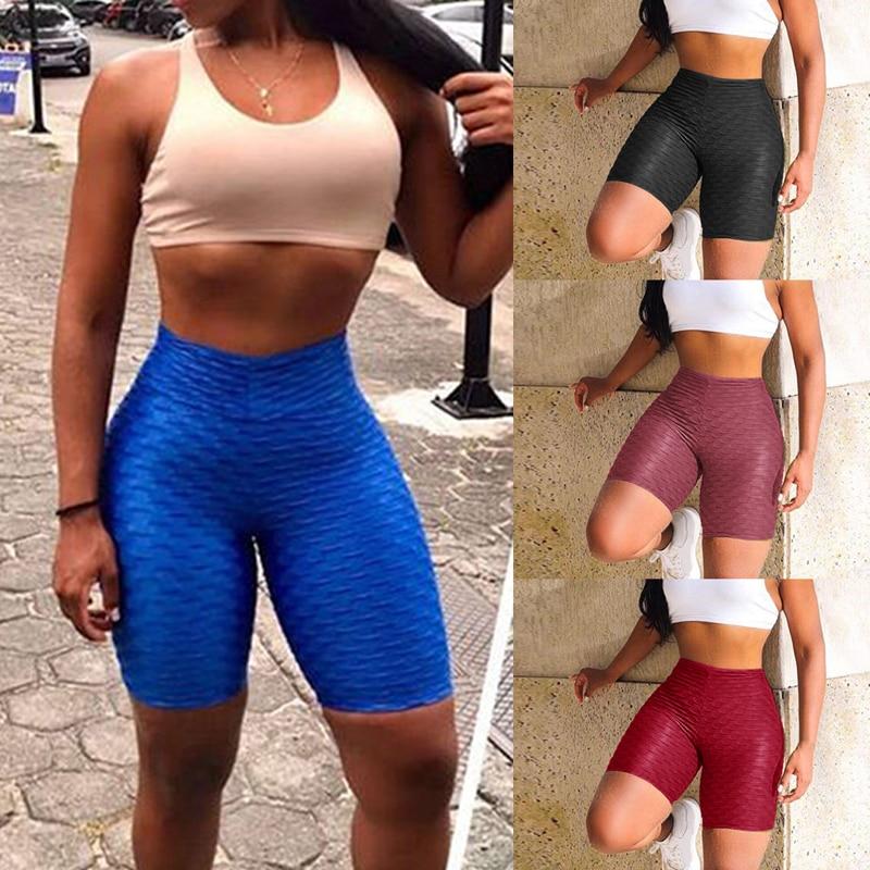 LOOZYKIT Hot Sale Workout Running Leggings Athletic Wear Women High Waist Yoga Shorts Tummy Control Fitness Gym Sports Trouser