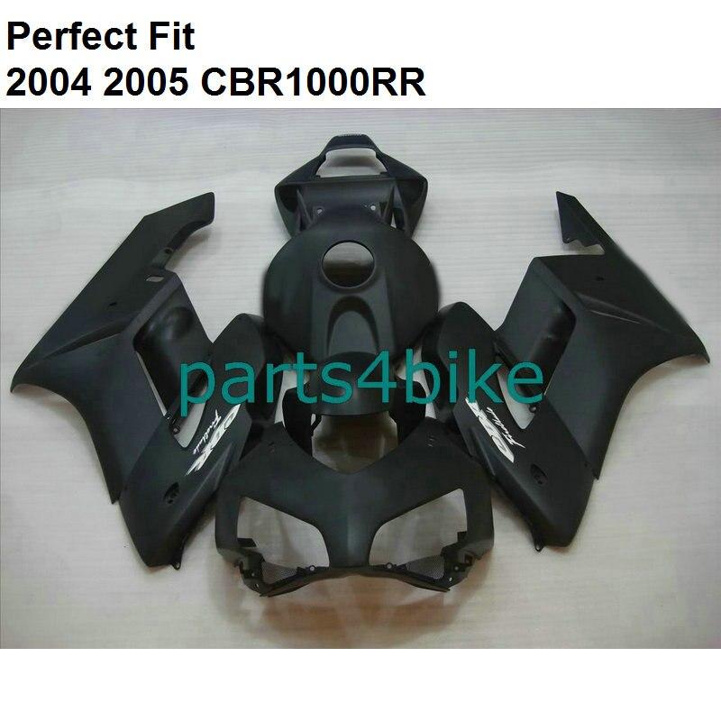 Carenados de gran oferta para Honda negro mate CBR1000RR 2004 2005 kit de carenado CBR 1000RR 04 05 + personalizado gratis NZ52