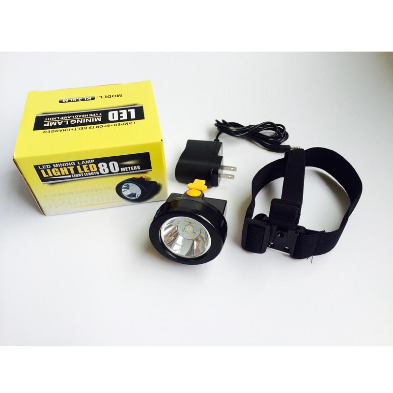 12 PCS/LOT KL2.8LM(B) LED Cap Lamp Portable Mining Headlamp Explosion-Proof Miner Light Free Shipping