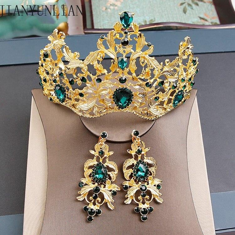 2020 nuevos sombreros de novia de aleación de cristal diamante novia oreja de corona juegos de clips accesorios para el cabello de boda tocados sombrero de boda tocado