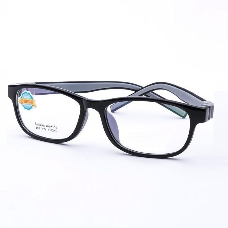 Ancho-132 nuevo suave silicona niños desmontar gafas marca chico dibujos animados miopía e hipermetropía ambliopía anteojos marcos 508