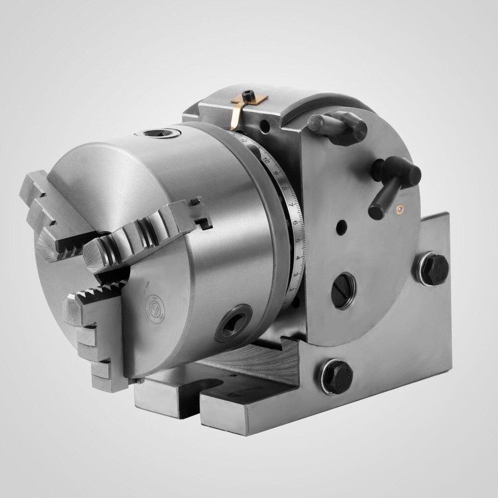 VEVOR 5'' Semi Universal Dividing Head 3-jaw Chuck Tailstock Milling Machine Precise enlarge