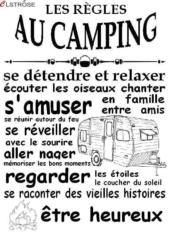 CLSTROSE pegatinas modernas gran oferta canadiense de pegatina de pared con citas vinilo removible arte familia remolque de Camping calcomanía de imagen