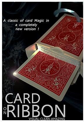 Card on Ribbon by Mickael Chatelain magic tricks