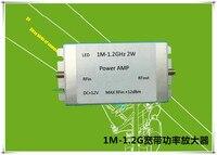 1M-1200MHz 2W HF FM VHF UHF broadband RF power amplifier