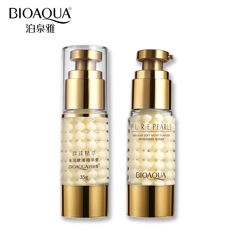 BIOAQUA, rostro cuidado puro de colágeno ácido hialurónico de la piel suave y sedoso hidratante antienvejecimiento esencia crema nutrir