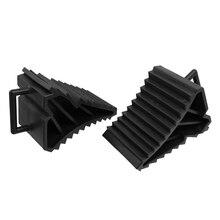 자동-2 pcs antislip 차량 자동차 트럭 휠 타이어 초크 차단 블록 블랙
