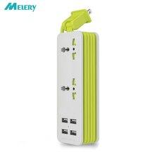 Multiprise adaptateur parasurtenseur bureau 1/2 prise universelle 4 Port USB intelligent chargeur de voyage mural 5ft rallonge