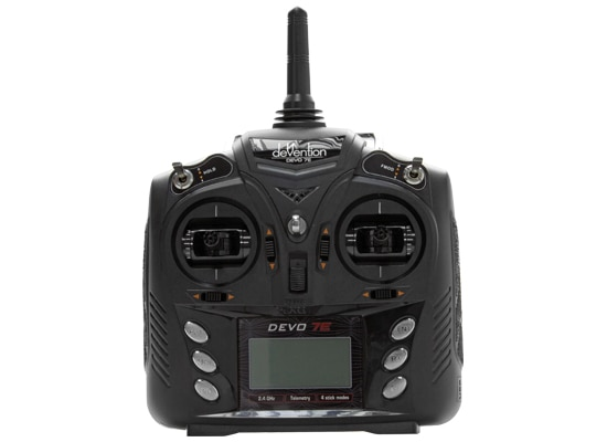 Walkera DEVO 7E 2,4G 7CH DSSS transmisor de Control de Radio para RC helicóptero avión modelo 1 y modelo 2