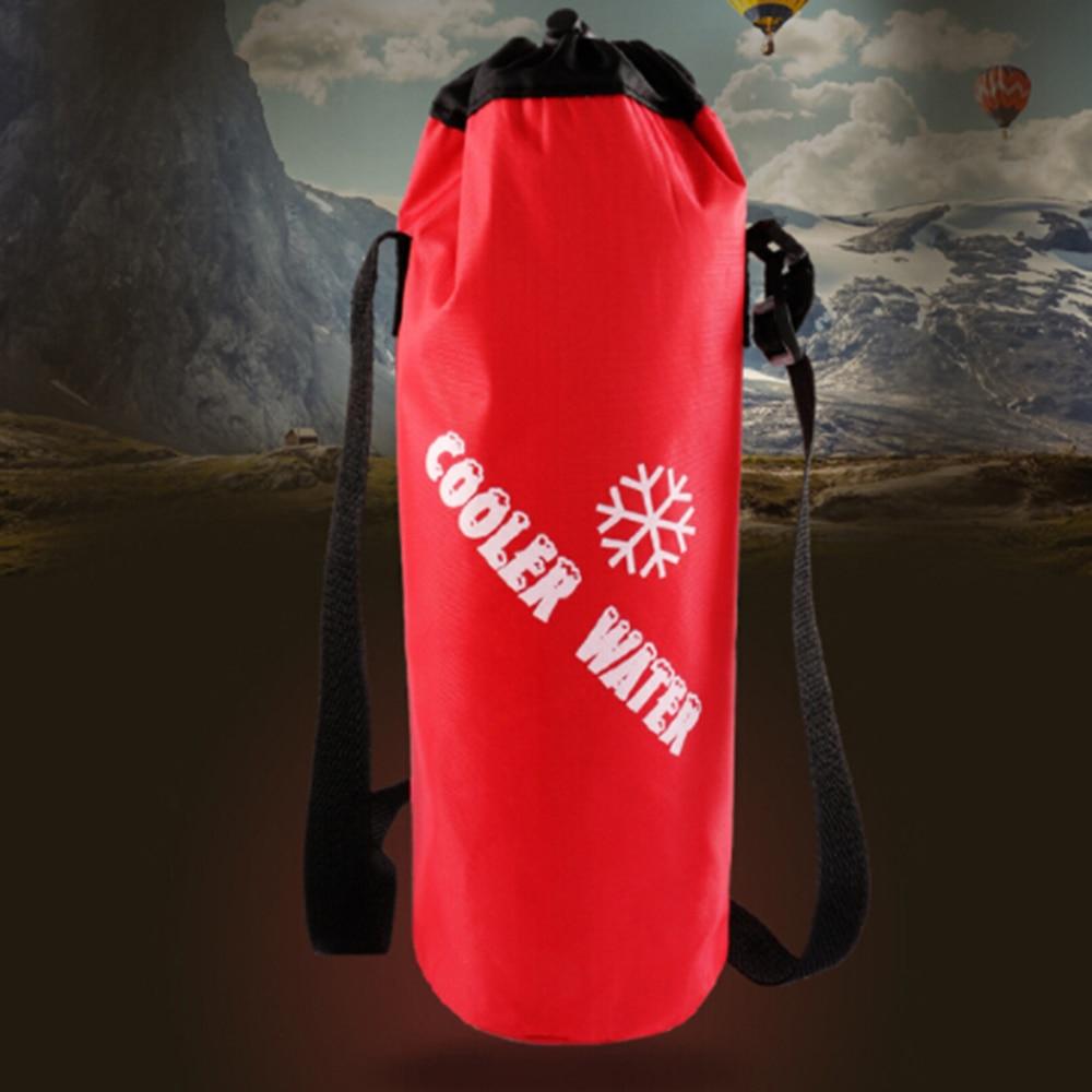 Moda portátil aislado refrigerador de hielo calentador almuerzo Picnic aislamiento térmico termo botella bolsa para hombre mujer