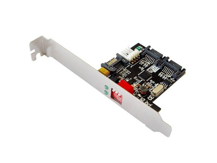 SATA II 2 puertos sata2.0 multiplicador (PM) Montaje de soporte RAID 0,1, JBOD Dual Canal Disco Duro acelerador tarjeta auto smart raid