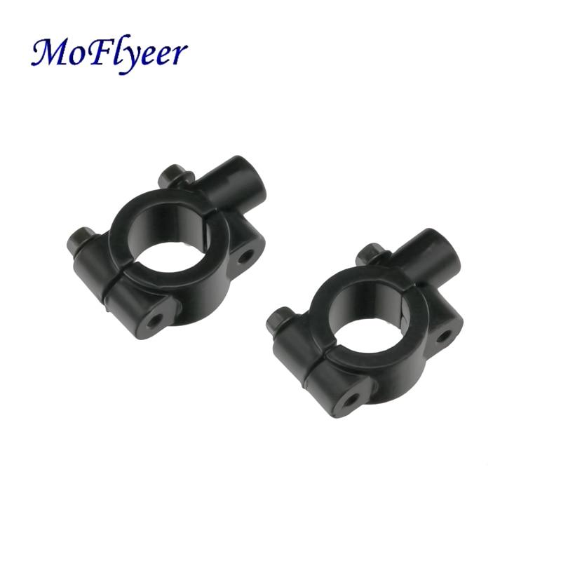 "MoFlyeer motocicleta 7/8 ""22mm manillar espejo montaje Adaptador 8mm/10mm hilo"