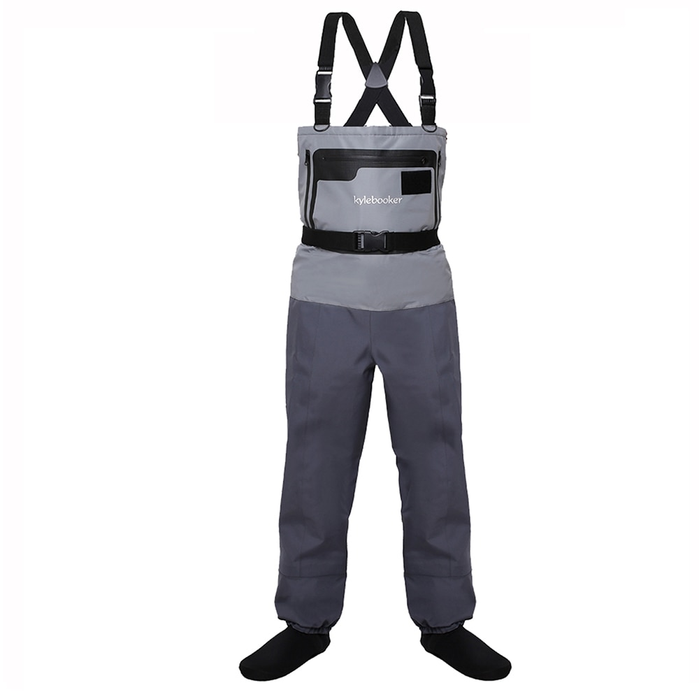 high jump ultra thin 0 34mm siamese fishing waders waterproof 700d nylon pvc breathable chest height pocket belt fishing overall 5-Layer Durable Breathable Waterproof Stocking Foot Fly Fishing Chest Waders Pants for Men and Women