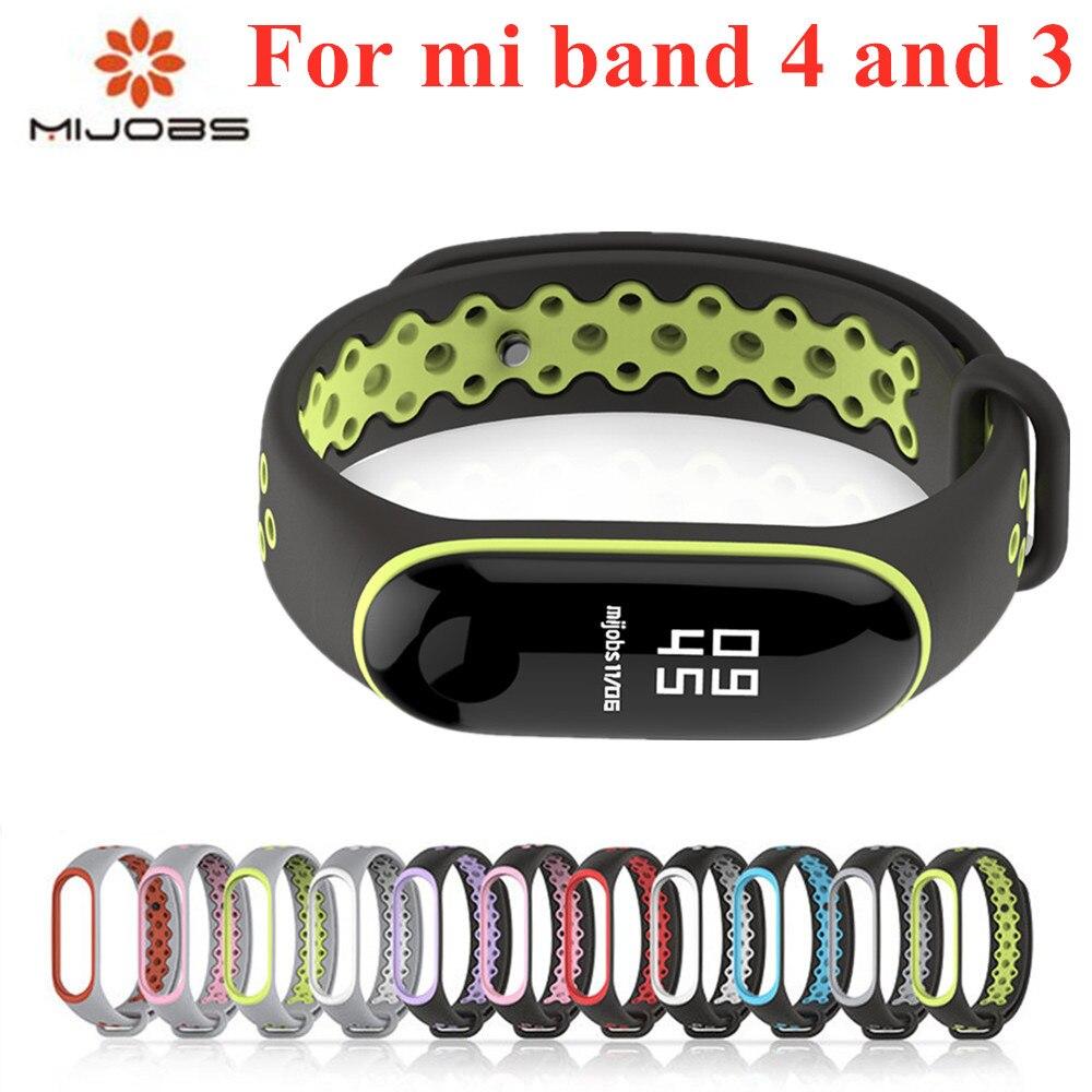 Spor Mi Band 3 4 kayış bilek kayışı Xiaomi mi band 3 spor silikon bilezik Mi band için 4 3 band3 akıllı izle bilezik