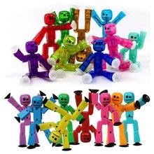 20 teile/los Farben Nach Dem Zufall senden niedlich Klebrige Roboter Sucker Saugnapf lustige Bewegliche action figur spielzeug